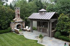large outdoor fireplace patio traditional