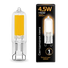 Купить <b>лампа gauss led g9</b> ac220-240v 4.5w 380lm3000k glass 1 ...