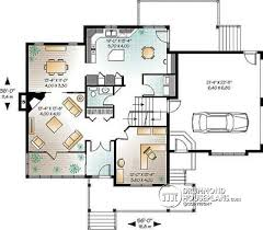 House plan W A V detail from DrummondHousePlans com    st level Craftsman house plan  to bedrooms  home office  solarium