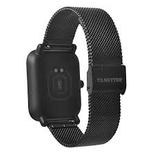 For Xiaomi Amazfit Bip Youth <b>Watch</b> Band, Becoler <b>20MM</b> Stainless ...