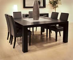 gray square dining table white