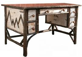 hickory birch bark desk bark furniture