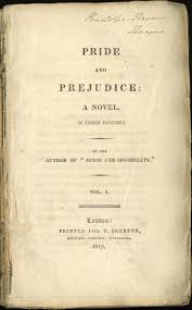 our first impressions of jane austen s pride and prejudice prideandprejudicetitlepage