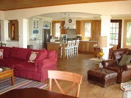 open floor kitchen modern living