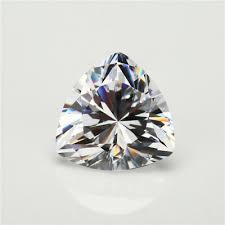 <b>50pcs 3x3</b>~15x15mm <b>Trillion Shape</b> White AAAAA loose cz stone ...