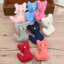 Free Shipping <b>1PC</b> Crochet Wool <b>Felt Cartoon</b> Animal Cat Doll Girls ...
