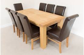 natural finish oak dining table graceful