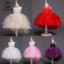 <b>Skyyue</b> Flower <b>Girl</b> Dress 2019 Elegant Blue High Low Length Kid ...