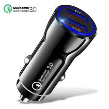<b>18W 3.1A Car Charger</b> Quick Charge 3.0 Universal Dual USB Fast ...