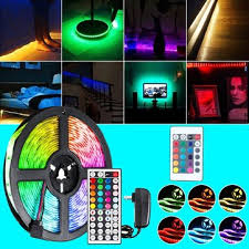 dc12v 5m <b>2835 smd rgb</b> non-waterproof <b>led strip</b> light + 24keys or ...