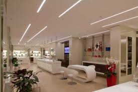 ottica marziali optical shop mixes ambient and accent led lighting accent ambient lighting