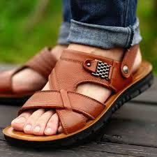 Big Size 48 <b>Men</b> Genuine Leather <b>Sandals</b> Summer <b>Classic Men</b> ...