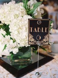 art deco wedding table numbers art deco inspired pinterest