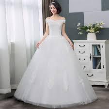 Buy <b>Elegant</b> wedding dress <b>2019 new</b> off-<b>shoulder</b> gown ball lace ...