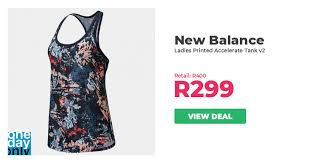 25% off on New Balance Ladies <b>Printed Accelerate Tank v2</b> ...