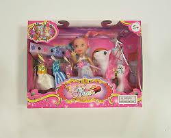 "<b>1 new</b> doll and pony set 4"" size extra <b>dresses</b> and wand <b>girls</b> kids ..."