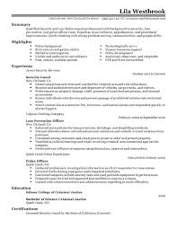 police officer resume sample law enforcement security emergency police