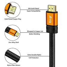 UHD <b>HDMI 2.0</b> /(4K@60Hz/) -18Gbps-28AWG Braided <b>Cord</b> -<b>Gold</b> ...