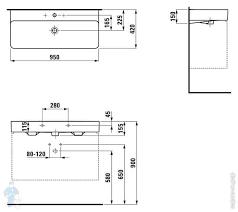 <b>Раковина Laufen</b> VAL 810287 (950х420х155) отверстие под ...