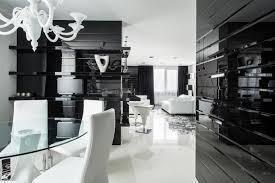 glass wall black white