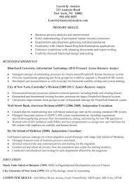 resume example for job business analyst resume targeted to job gallery of example work resume