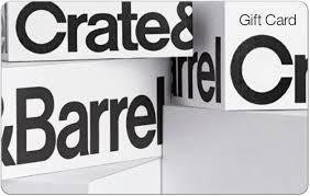 Crate & Barrel Universal $50 Gift Card CRATE BARRELL $50 - Best ...
