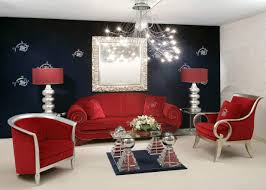 sofa living room contemporary silver accent  luxurious red living room furniture decorating ideas silver metal mod