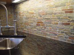 kitchen backsplash stainless steel tiles:  beautiful kitchen natural stone backsplash ideas orange tile pattern stone backsplash black high gloss wood kitchen