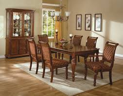 Full Dining Room Sets Dining Room Table And Chair Sets And Brown Upholstered Chair