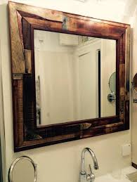 recycled pallet bathroom mirror bathroom furniture pallets