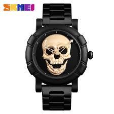 SKMEI Skull Watch Men Watches <b>Luxury Brand Quartz Watch</b> Sport ...