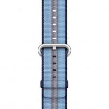 Купить Midnight Blue Stripe Woven <b>Nylon Band</b> (MQVU2) для <b>Apple</b> ...