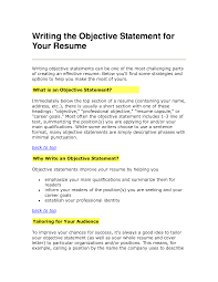 resume objectives examples use them on your resume tips cover letter objective statement examples for resume best