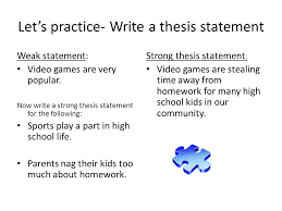 thesis statement another  to an effective essay  ppt download