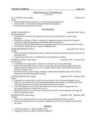 resume examples for internship template objective for internship resume