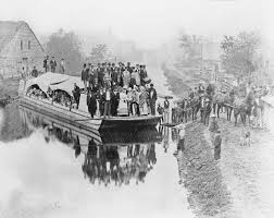 Image result for opening of wabash and erie canal 1835