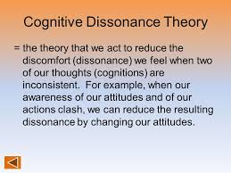 Image result for cognitive dissonance theory