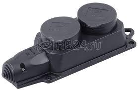 Купить <b>Розетка</b> (колодка) 2-м Омега РБ32-1-0м IP44 с защ ...
