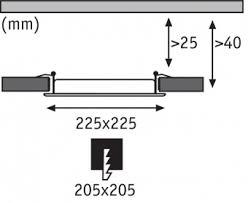 Встраиваемый светодиодный <b>светильник Paulmann Smart</b> Panel ...