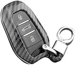 <b>Silicone car key</b> cover key ring, <b>ABS</b> carbon fibre shell: Amazon.de ...