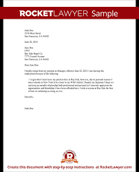 resignation letter sample   employee resignation form   rocket lawyer