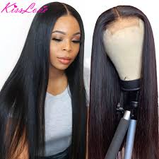<b>Kiss</b> Love Brazilian Straight Lace Closure Wig <b>180</b>% Density Pre ...