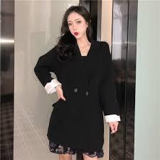 2019 2019 New Black <b>Small Suit Jacket</b> Female <b>Korean</b> Version Of ...