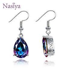 <b>NASIA</b> Jewelry <b>925 Sterling Silver</b> Mystery Rainbow Crystal Earrings ...