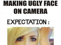 Making An Ugly Face On Camera | WeKnowMemes via Relatably.com