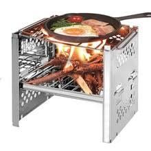 Купить camping wood stove <b>outdoor portable</b> folding <b>titanium</b> wood ...