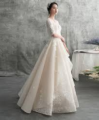<b>Champagne tulle</b> lace long <b>wedding</b> dress, <b>tulle</b> lace <b>applique</b> ...