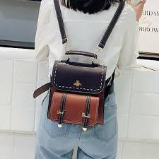 <b>2019</b> MARFUNY Little Bee <b>Vintage</b> Pu Leather <b>Women Backpack</b> ...