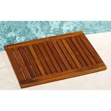 bamboo accessories shower seat mat bathtub caddy