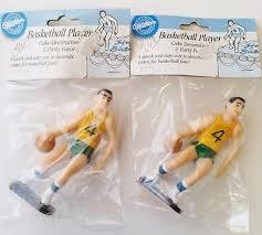 Vtg Wilton <b>Cake Topper Basketball Player</b> (2) Decoration 1991 ...